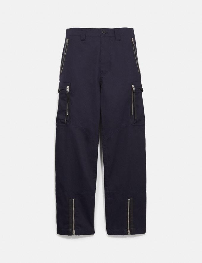 Coach Army Pants Deep Navy New Men's New Arrivals Ready-to-Wear