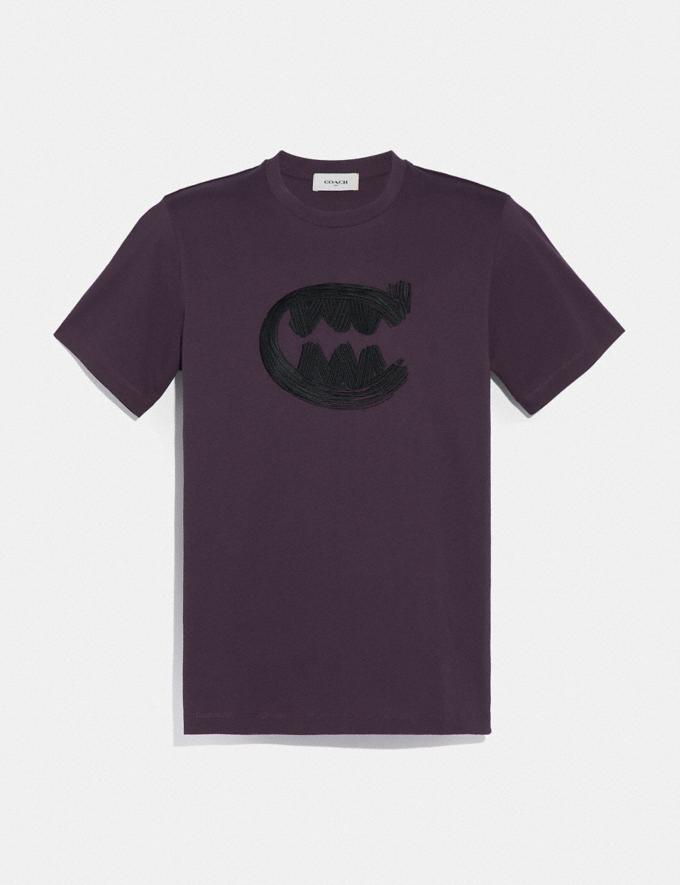 Coach Rexy by Guang Yu T-Shirt Grape Men Ready-to-Wear Tops & Bottoms