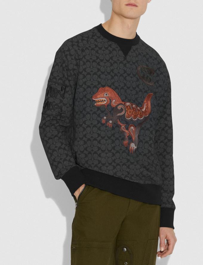 Coach Rexy by Creative Artists Crewneck Sweatshirt Black Signature VIP SALE Men's Sale Ready-to-Wear Alternate View 1