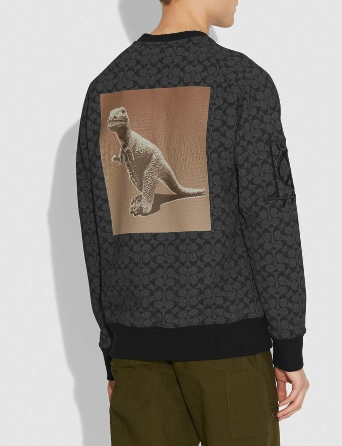 Coach Rexy by Creative Artists Crewneck Sweatshirt Black Signature VIP SALE Men's Sale Ready-to-Wear Alternate View 2