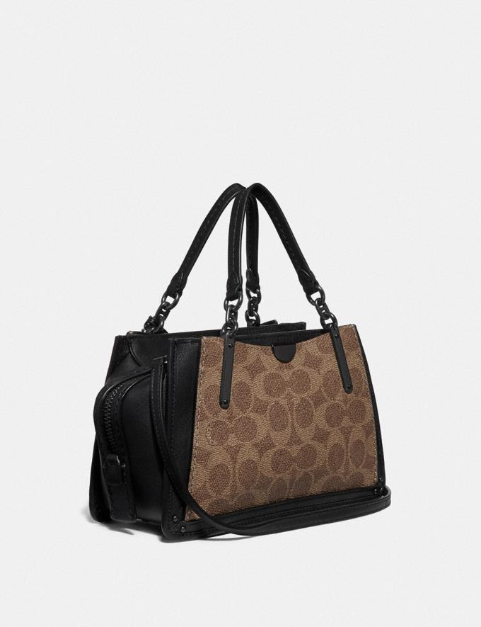 Coach Dreamer 21 in Signature Canvas With Rexy by Sui Jianguo Tan/Black/Pewter Women Collection Dreamer Alternate View 1