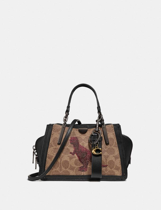 Coach Dreamer 21 in Signature Canvas With Rexy by Sui Jianguo Tan/Black/Pewter New Women's New Arrivals Bags Alternate View 3