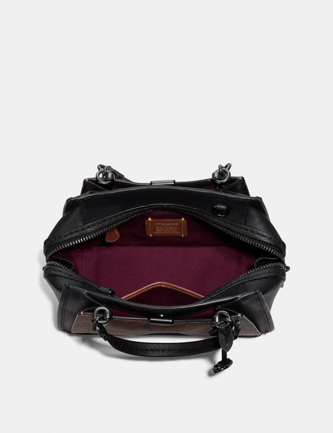 Coach Dreamer 21 in Signature Canvas With Rexy by Sui Jianguo Tan/Black/Pewter Women Collection Dreamer Alternate View 2