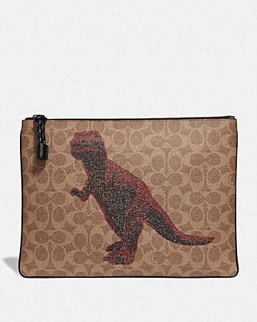 pouch 30 in signature canvas with rexy by sui jianguo
