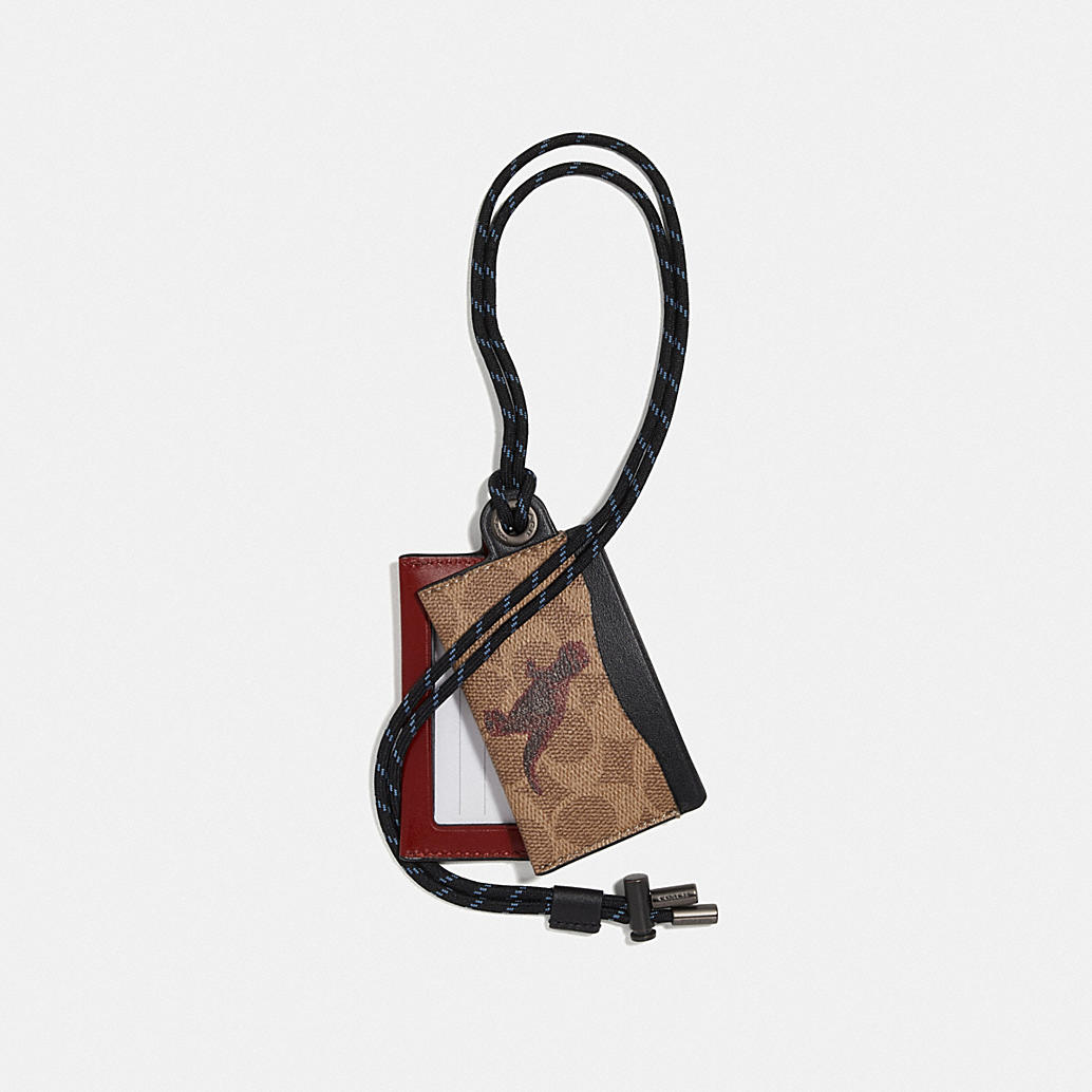 Id Lanyard Card Case In Signature Canvas With Rexy By Sui Jianguo by Coach