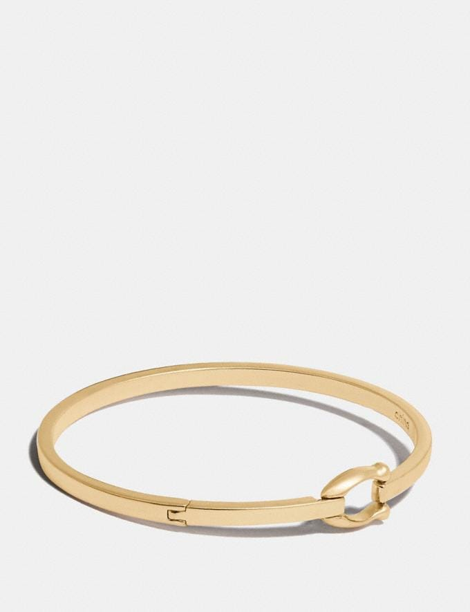 Coach Signature Hook Bangle Gold Women Accessories Jewellery