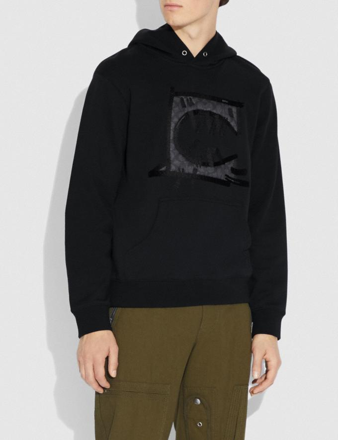 Coach Rexy by Guang Yu Hoodie Black New Men's New Arrivals Ready-to-Wear Alternate View 1