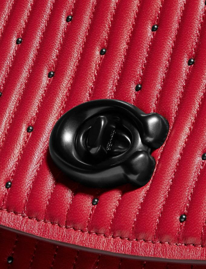 Coach Parker Top Handle With Quilting and Rivets Red Apple/Pewter Event Alternate View 5