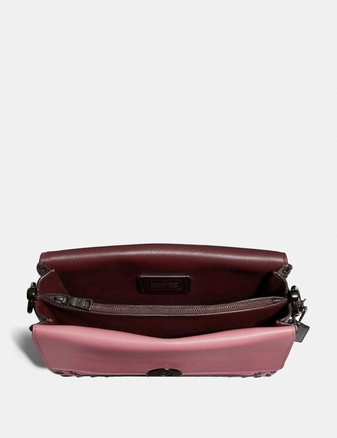 Coach Dreamer Shoulder Bag in Colorblock With Whipstitch True Pink Multi/Pewter Women Bags Shoulder Bags Alternate View 2