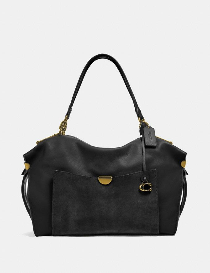 Coach Darla 32 Black/Brass Women Handbags Shoulder Bags & Hobos