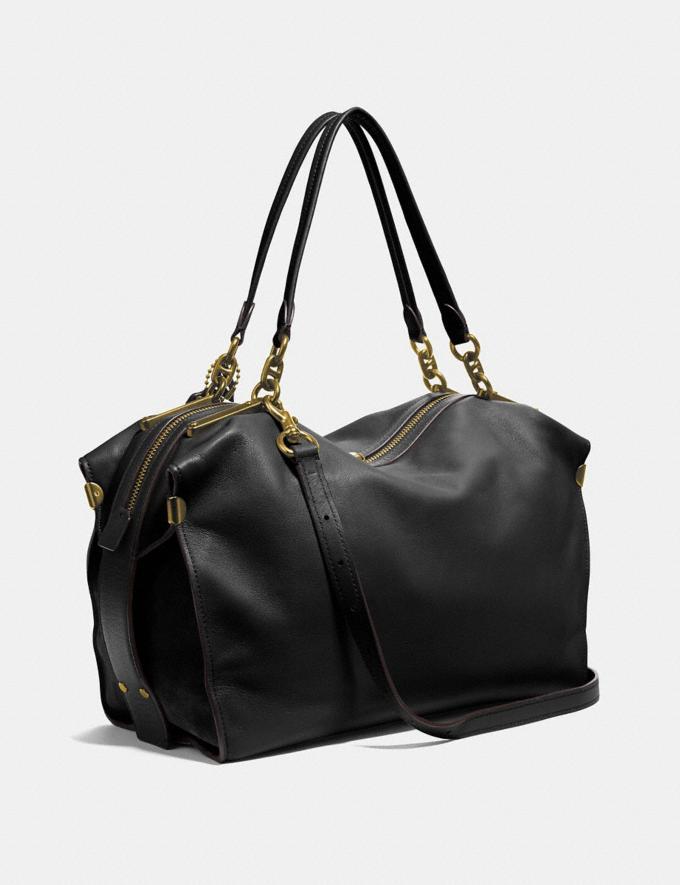 Coach Darla 32 Black/Brass Women Handbags Shoulder Bags & Hobos Alternate View 1