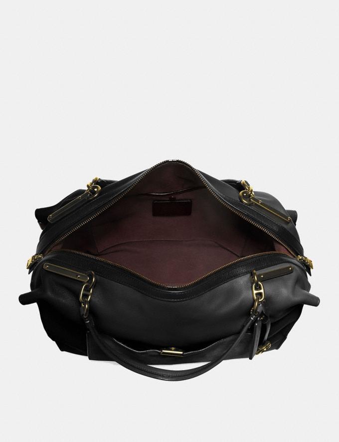 Coach Darla 32 Black/Brass Women Handbags Shoulder Bags & Hobos Alternate View 2