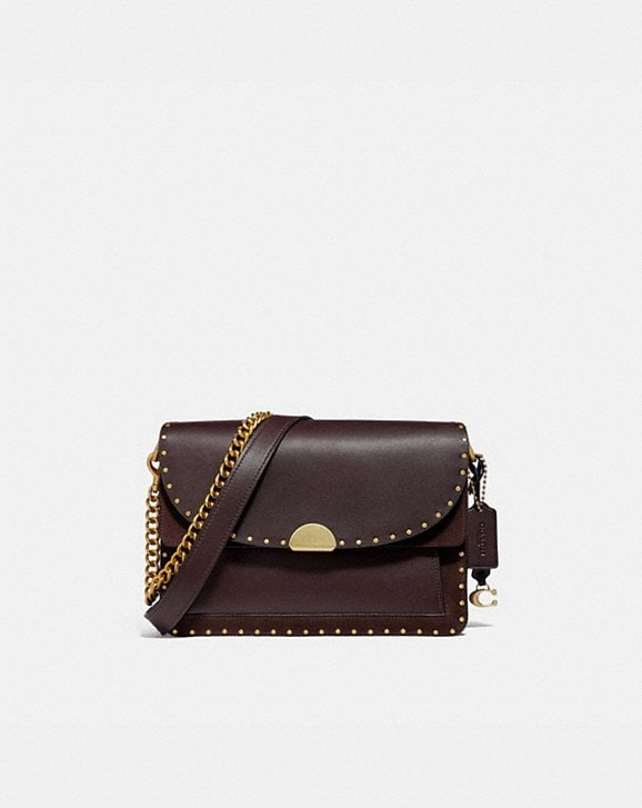 Coach DREAMER SHOULDER BAG WITH RIVETS
