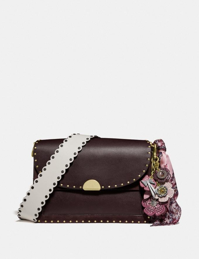 Coach Dreamer Shoulder Bag With Rivets Oxblood/Brass Women Bags Crossbody Bags Alternate View 4