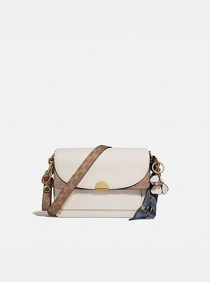 DREAMER SHOULDER BAG WITH SIGNATURE CANVAS BLOCKING