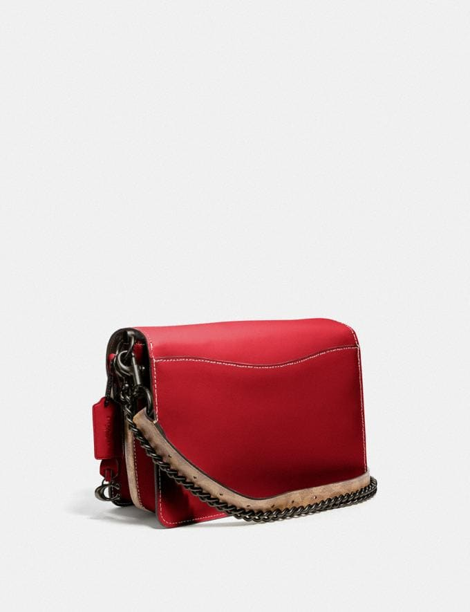 Coach Dreamer Shoulder Bag With Signature Canvas Blocking Tan Red Apple/Pewter New Featured Online Exclusives Alternate View 1