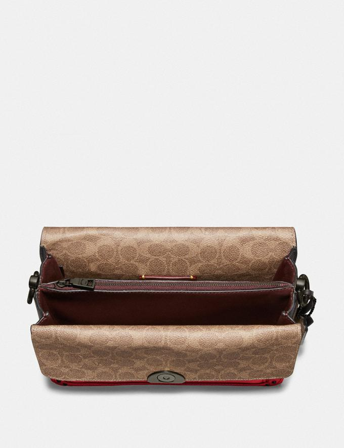 Coach Dreamer Shoulder Bag With Signature Canvas Blocking Tan Red Apple/Pewter New Featured Online Exclusives Alternate View 2