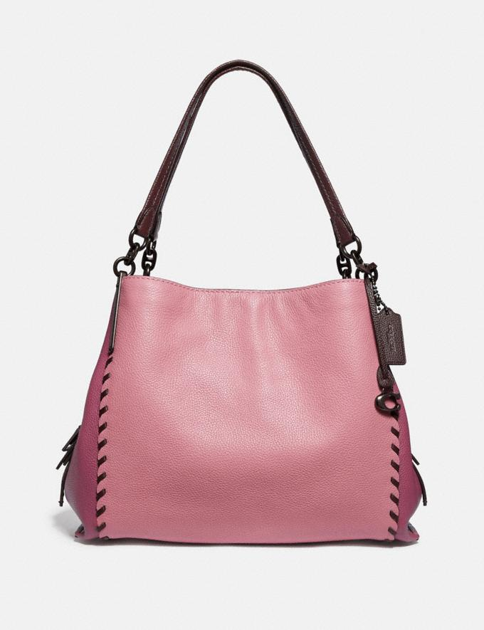 Coach Dalton 31 in Colorblock With Whipstitch True Pink Multi/Pewter Women Bags Shoulder Bags