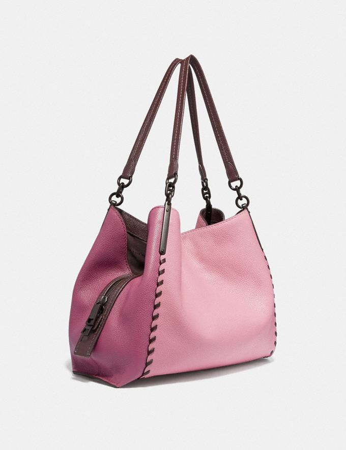 Coach Dalton 31 in Colorblock With Whipstitch True Pink Multi/Pewter Women Bags Shoulder Bags Alternate View 1