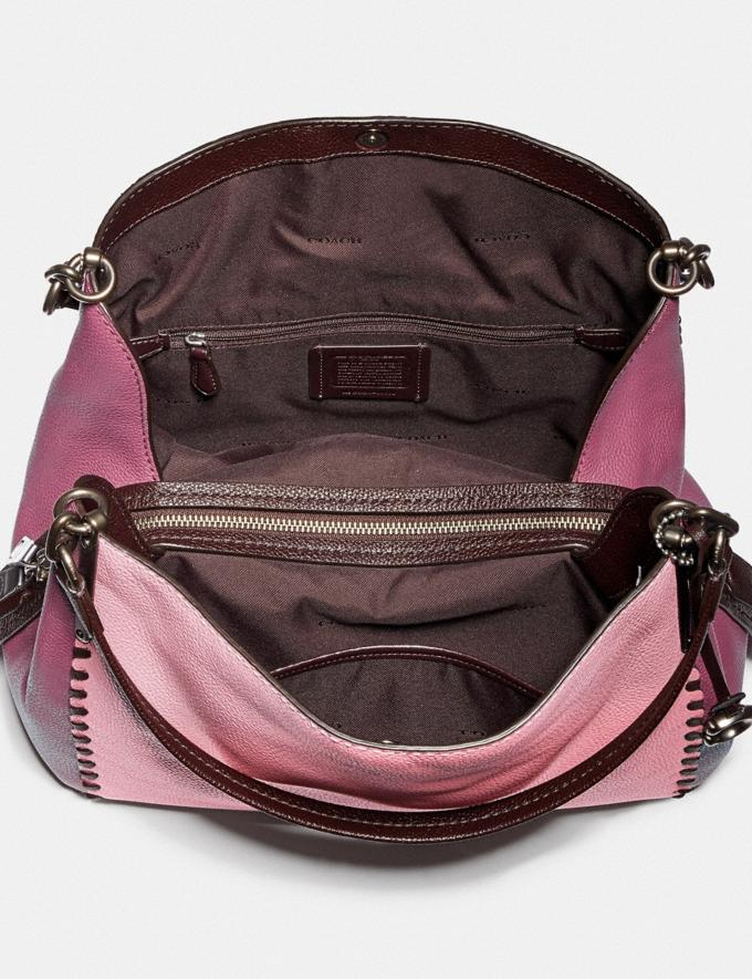 Coach Dalton 31 in Colorblock With Whipstitch True Pink Multi/Pewter Women Bags Shoulder Bags Alternate View 2