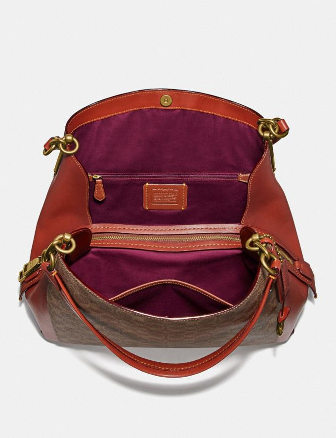 Coach Dalton 31 in Signature Canvas Tan/Rust/Brass Bags Collection Dalton Alternate View 2