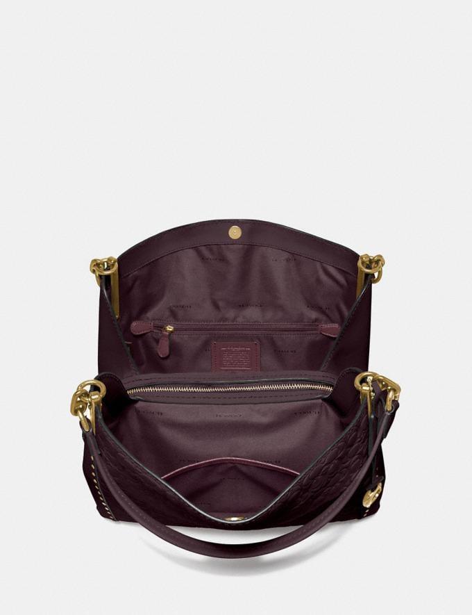 Coach Dalton 31 in Signature Leather With Rivets Oxblood/Brass Cyber Monday Alternate View 2
