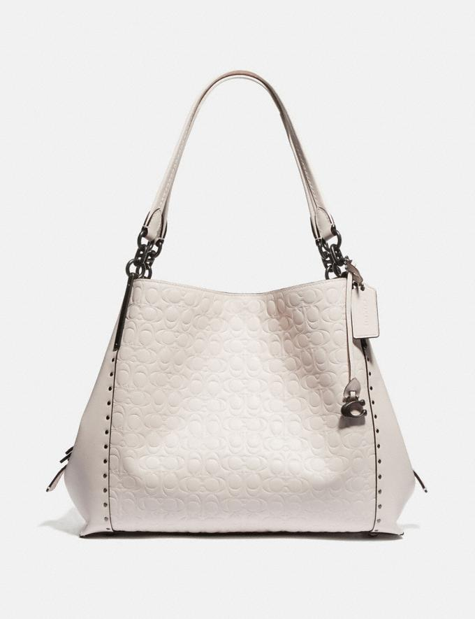 Coach Dalton 31 in Signature Leather With Rivets Chalk/Pewter Women Bags View All