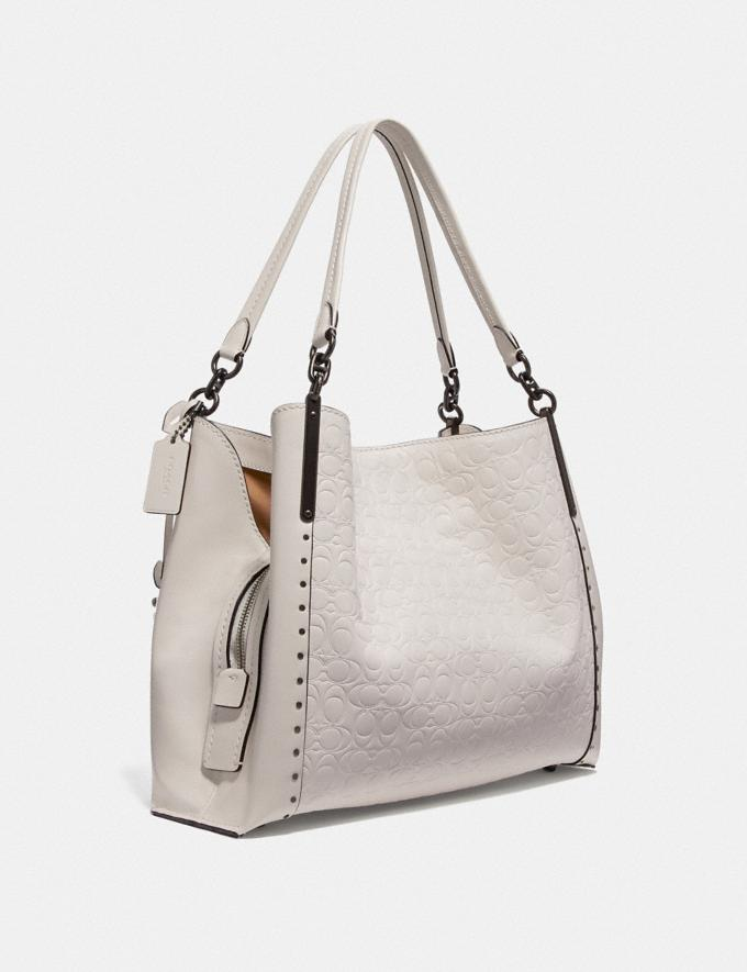 Coach Dalton 31 in Signature Leather With Rivets Chalk/Pewter Women Bags View All Alternate View 1