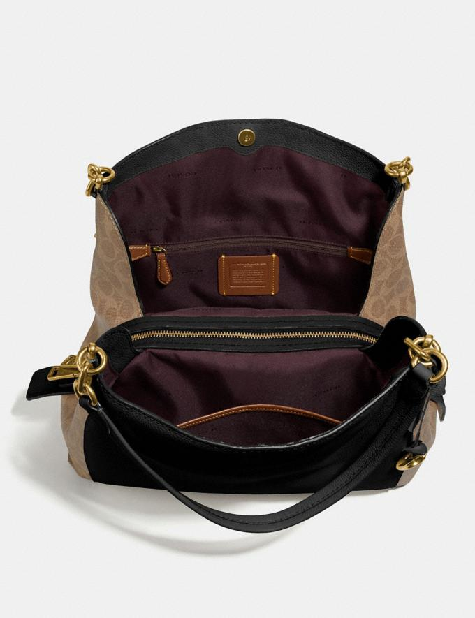 Coach Dalton 31 With Signature Canvas Blocking Tan Black/Brass Women Edits Signature Styles Alternate View 3