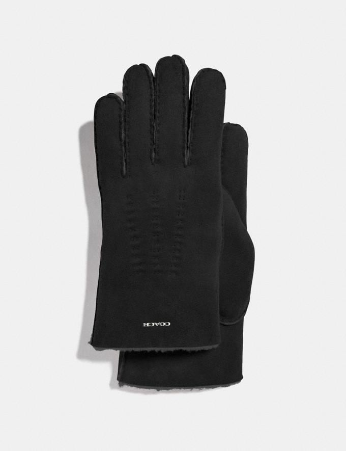 Coach Shearling Gloves Black Men Ready-to-Wear Scarves and Gloves