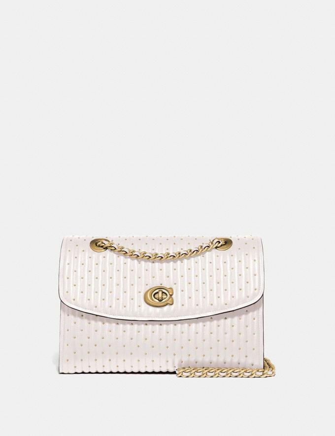 Coach Parker With Quilting and Rivets Brass/Chalk SALE March Event Women's