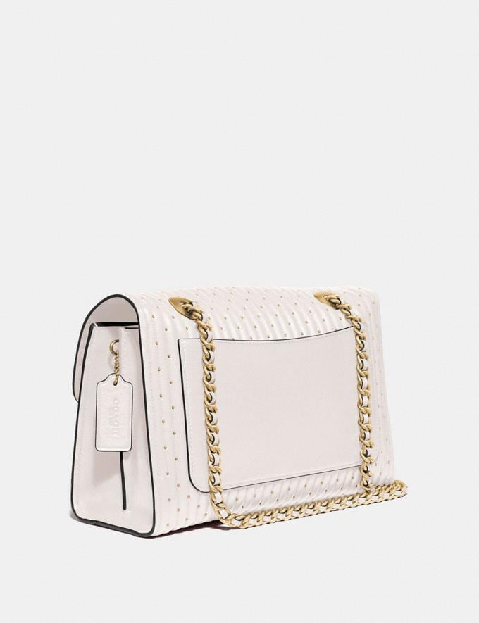 Coach Parker With Quilting and Rivets Brass/Chalk SALE March Event Women's Alternate View 1