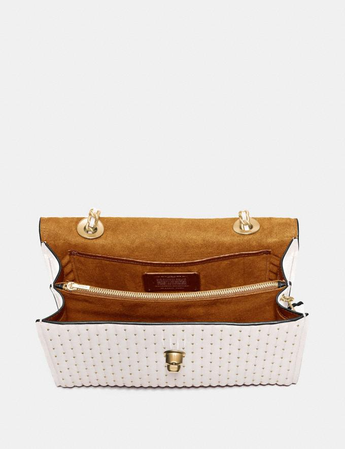 Coach Parker With Quilting and Rivets Brass/Chalk SALE March Event Women's Alternate View 2