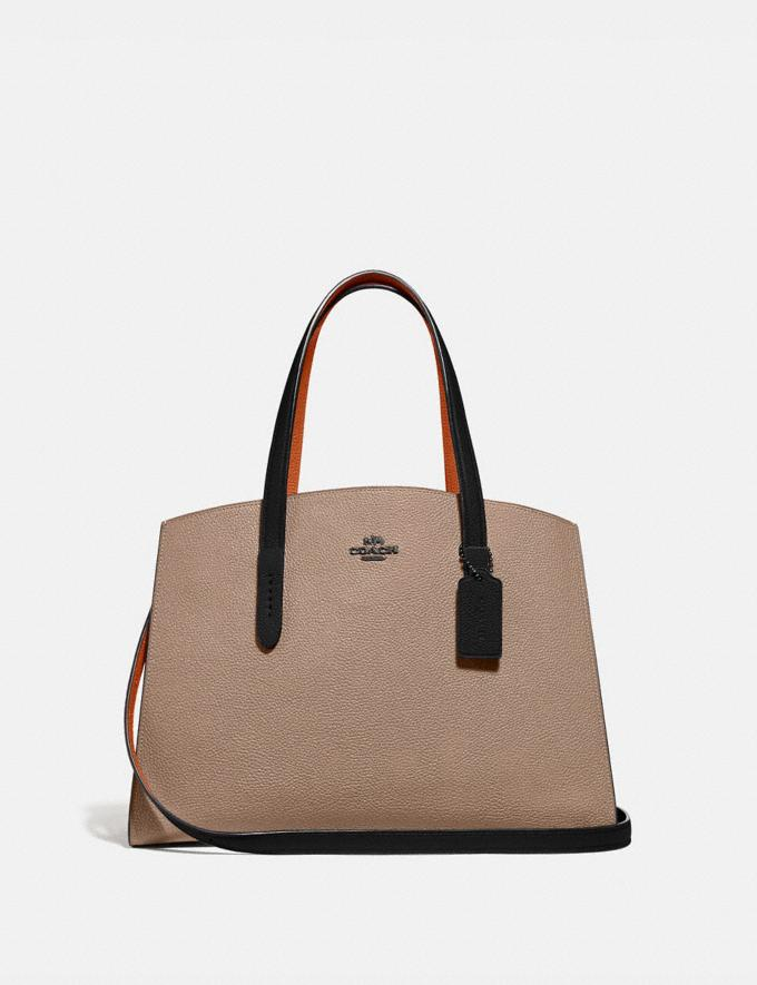 Coach Charlie Carryall in Colorblock V5/Taupe Multi Women Bags Satchels