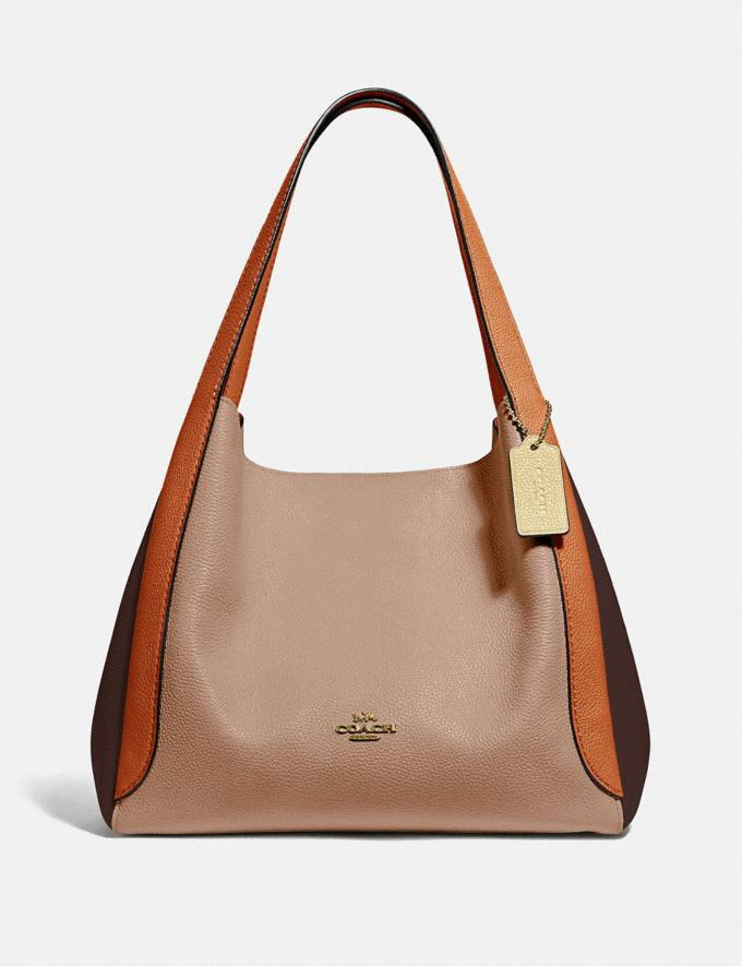 Coach Hadley Hobo in Colorblock Brass/Taupe Ginger Multi