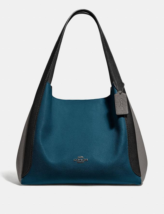 Coach Hadley Hobo in Colorblock Peacock Multi/Gunmetal New Women's New Arrivals Bags