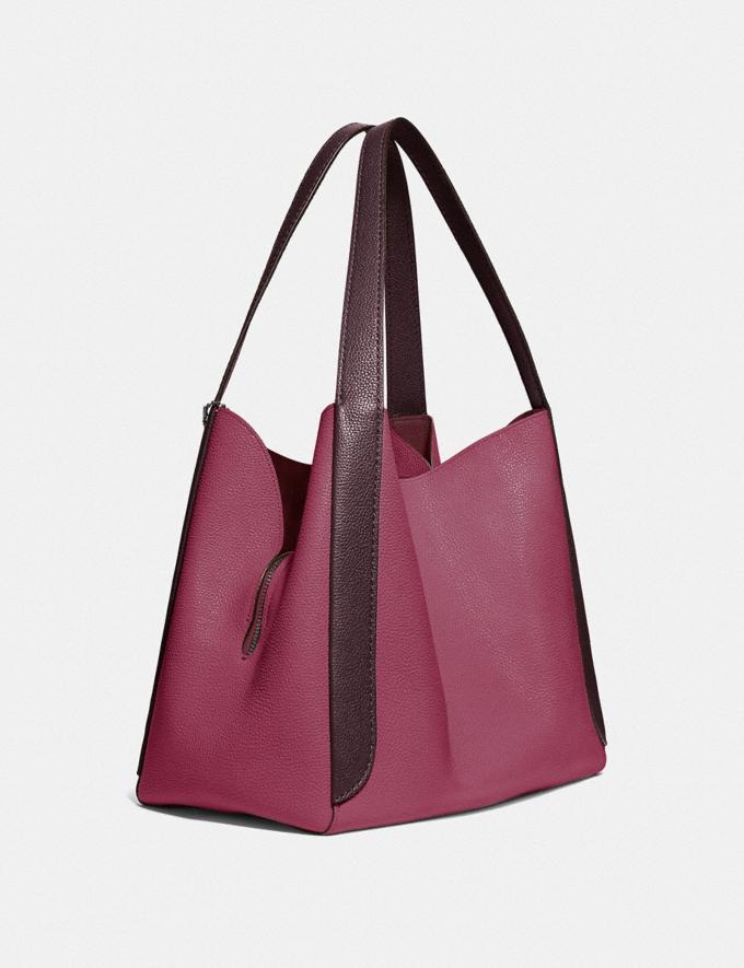 Coach Hadley Hobo in Colorblock Gunmetal/Dusty Pink Multi Women Bags View All Alternate View 1