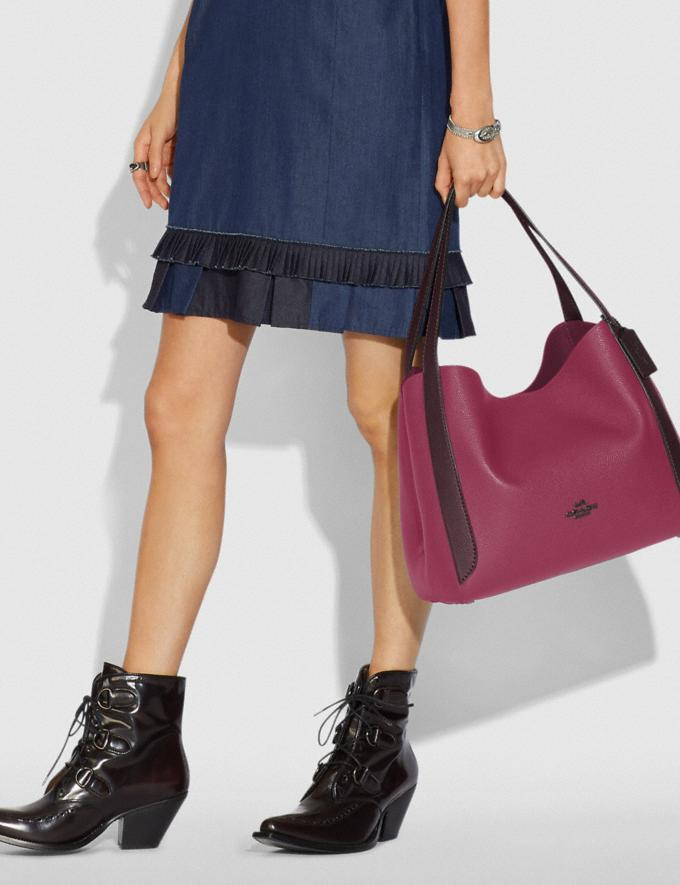 Coach Hadley Hobo in Colorblock Gunmetal/Dusty Pink Multi Women Bags View All Alternate View 3