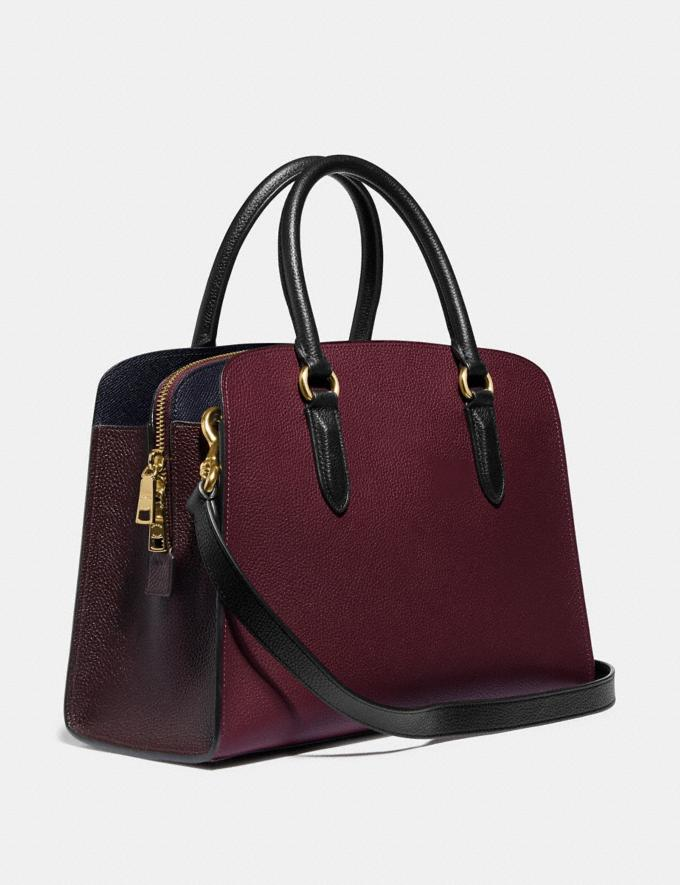 Coach Channing Carryall in Colorblock Vintage Mauve Multi/Gold Women Bags Satchels Alternate View 1