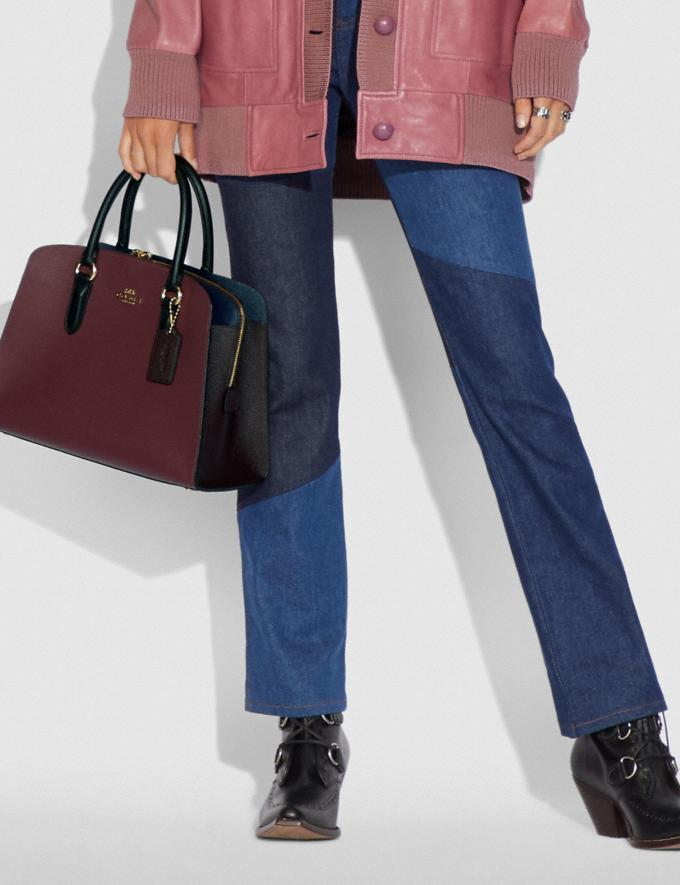 Coach Channing Carryall in Colorblock Vintage Mauve Multi/Gold Women Bags Satchels Alternate View 3