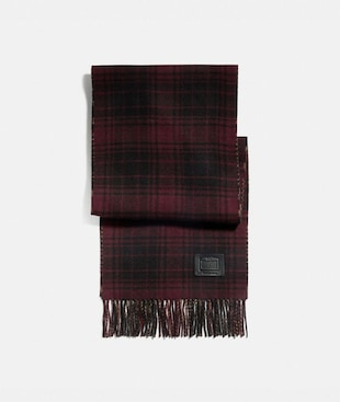 DOUBLE PLAID PRINT MUFFLER