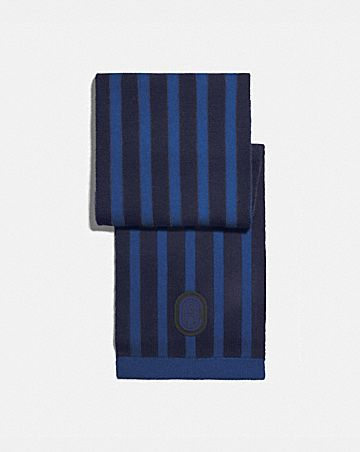 signature retro patch knit scarf