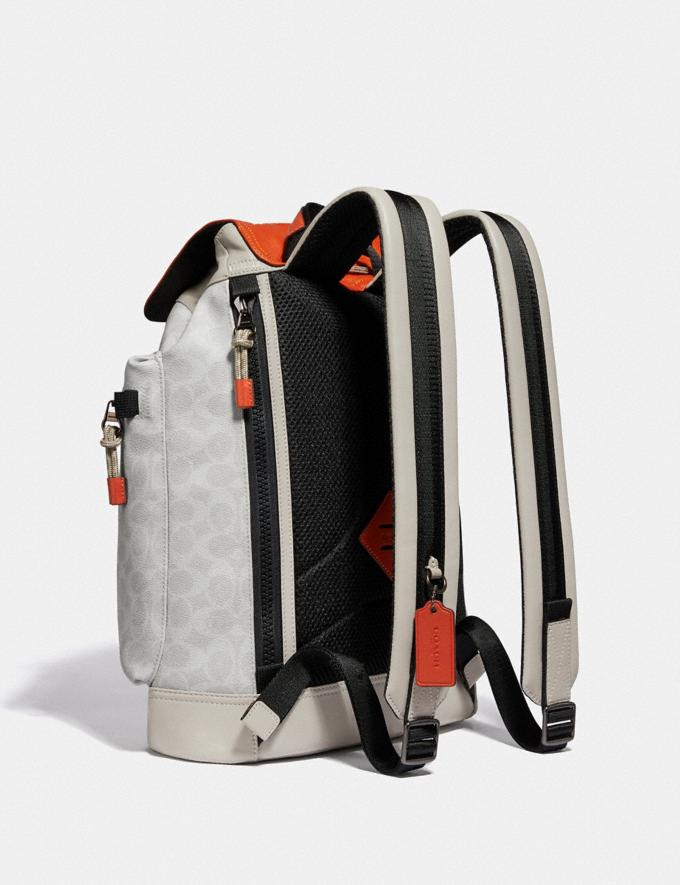 Coach Pacer Utility Backpack in Signature Canvas With Coach Patch Ji/Chalk/Mango New Men's New Arrivals View All Alternate View 1