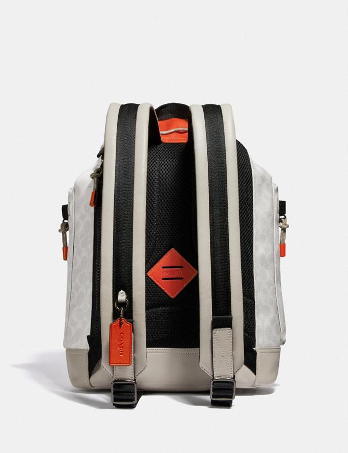 Coach Pacer Utility Backpack in Signature Canvas With Coach Patch Ji/Chalk/Mango New Men's New Arrivals View All Alternate View 2
