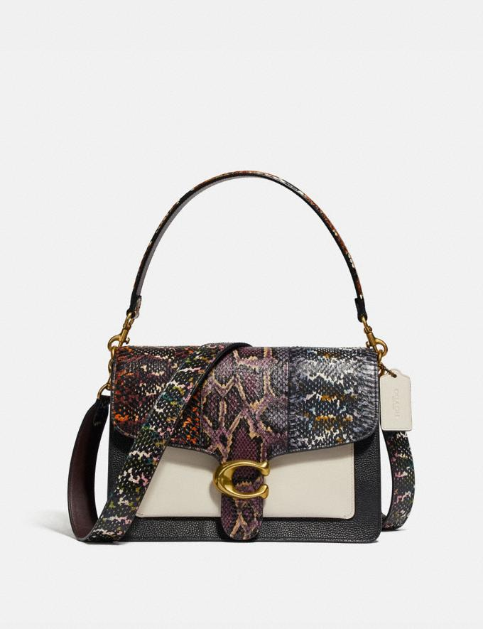 Coach Tabby Shoulder Bag in Snakeskin Black Multi/Brass Women Handbags Crossbody Bags