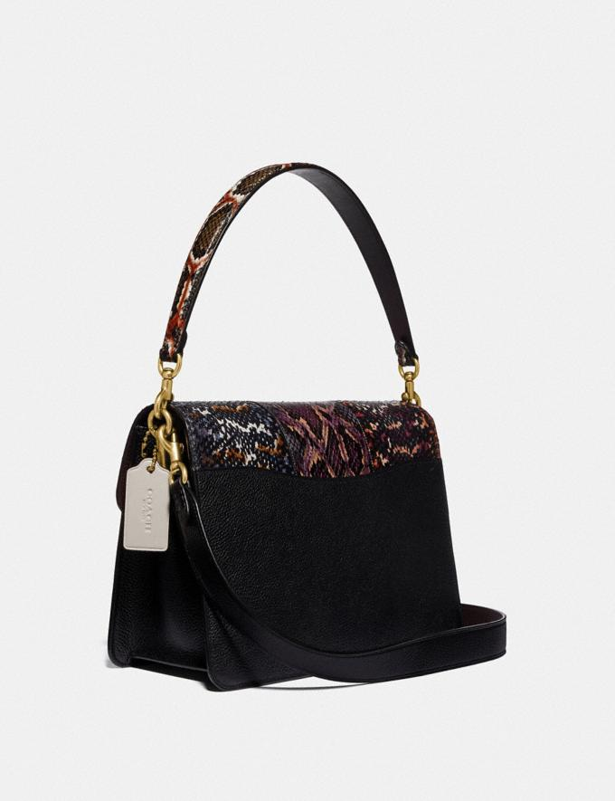 Coach Tabby Shoulder Bag in Snakeskin Black Multi/Brass Women Handbags Crossbody Bags Alternate View 1