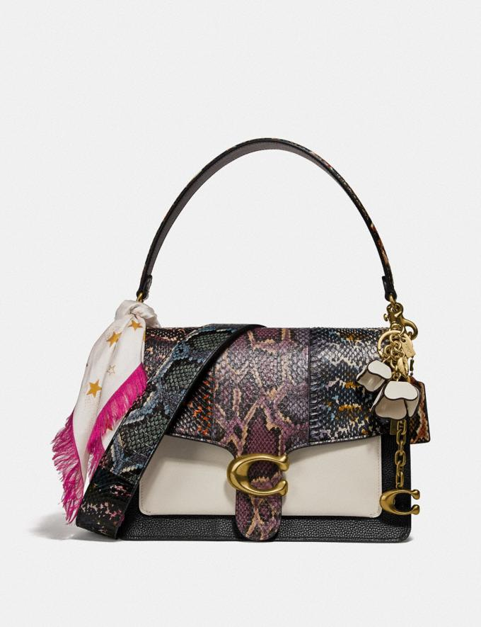 Coach Tabby Shoulder Bag in Snakeskin Black Multi/Brass Women Handbags Crossbody Bags Alternate View 3