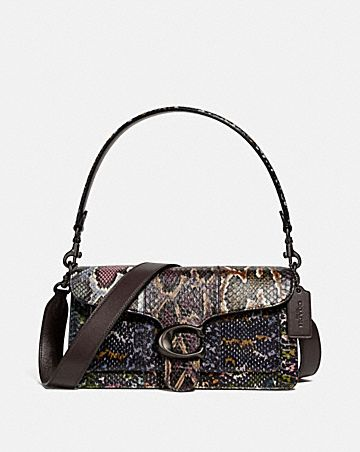TABBY SHOULDER BAG 26 IN SNAKESKIN