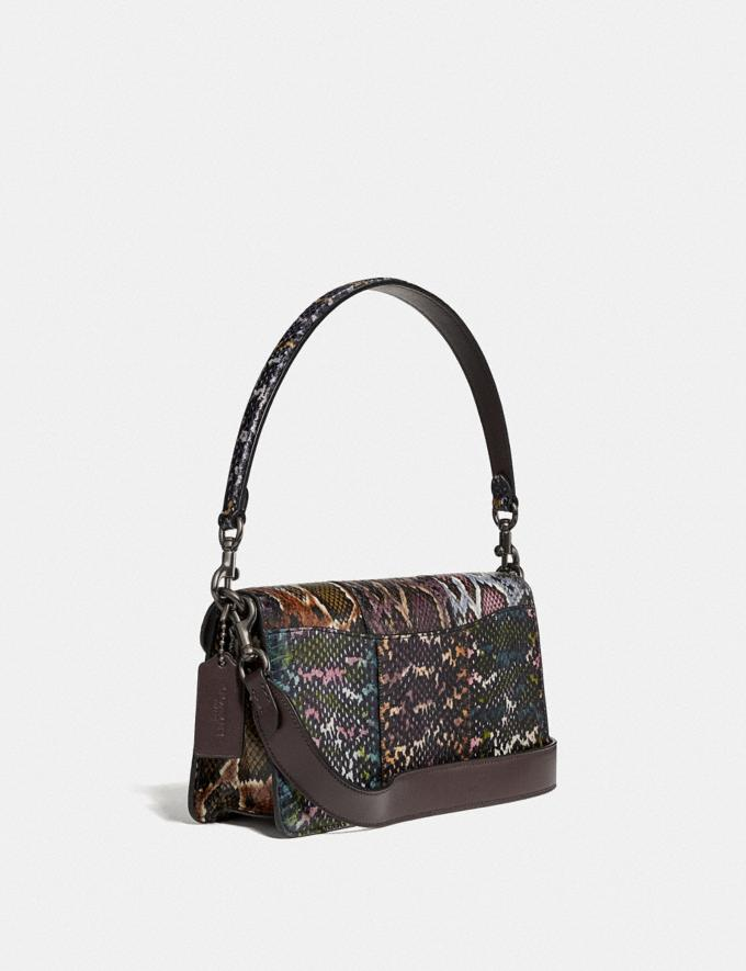 Coach Tabby Shoulder Bag 26 in Snakeskin Multicolor/Pewter Women Handbags Crossbody Bags Alternate View 1