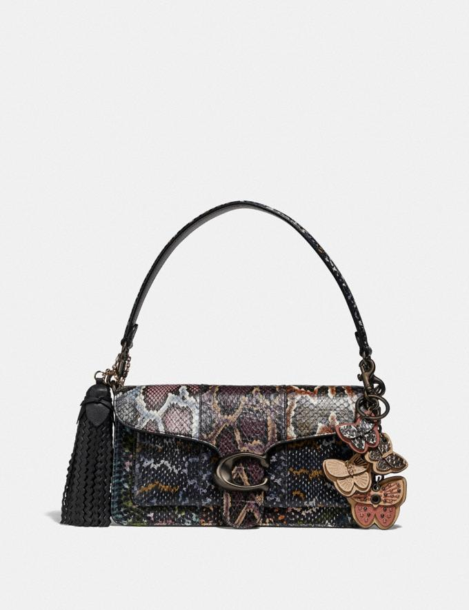 Coach Tabby Shoulder Bag 26 in Snakeskin Multicolor/Pewter Women Handbags Crossbody Bags Alternate View 3